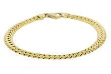 14K Gouden Geslepen / Gewalst Gourmet Armband 20 cm