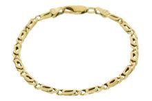 14K Gouden Valkoog Schakel Armband 19,5 cm