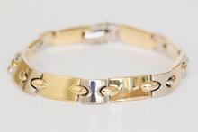 14-K-Gouden-Bicolor-schakel-armband---195-cm-VERKOCHT
