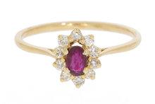 18 karaat gouden Entourage ring met Robijn & Diamant
