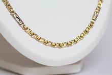 14-K-bicolour-platte-gouden-koningsketting--68-cm