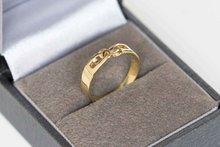 14 K geelgouden ring schakel