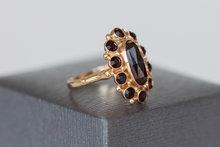 14 K gouden ring met Granaten