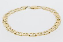 14 Karaat geelgouden Valkoog armband - 22 cm