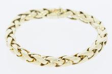 14-K-geelgouden-vossenstaart-armband-met-bakslot--22-cm