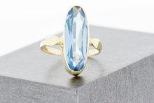14 K gouden ring met Aquamarijn