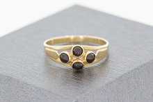 14 K gouden ring met Granaat