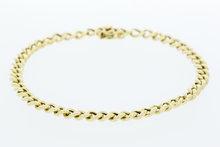 14 K gouden Gourmet armband- 22 cm