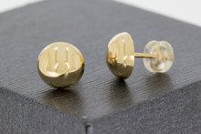 """14 K gouden oorstekers """"halve bol"""""""