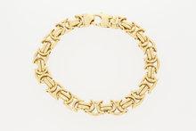 Gouden platte koningsarmband-22 cm