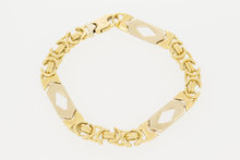 14 Karaat geel gouden Koningsarmband met spekken - 21 cm
