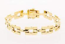 Gouden armband met vierkante schakels- 19 cm