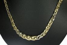 14 Karaat bicolor gouden Vossenstaart ketting - 47,5 cm