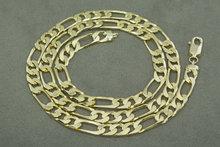14 karaat geelgouden Figaro schakelketting- 61 cm