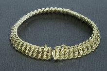 14 karaat geelgouden gevlochten Schakelarmband - 20 cm