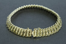 Gouden schakelarmband- 20 cm