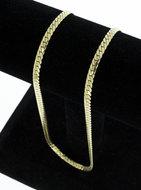 14 Karaat gouden gewalste Gourmet Collier - 45,5 cm
