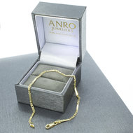 14 Karaat geelgouden Valkoog schakelarmband - 19,5 cm