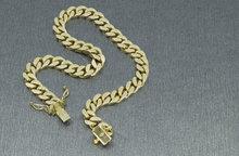 14 karaat geel gouden Gourmet armband - 21 cm