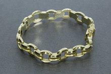 14k brede gouden armband - 19 cm