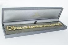 18k bicolor gouden armband - 21 cm