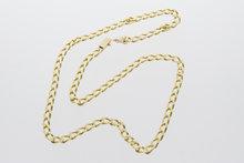18k gouden gourmet ketting - 47,5 cm