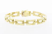 Gouden brede schakel armband - 18,7 mm