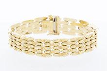 14 karaat gouden schakelarmband-19 cm