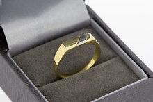 14 karaat bicolor gouden Zegelring