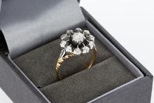 14 Karaat bicolor gouden Rozetring gezet met Diamant