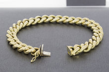 14 Karaat gouden Open Gourmet armband - 21 cm