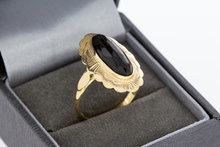 14 Karaat geelgouden ring met Granaat