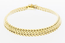 14 karaat gouden dubbele Gourmet armband - 19,5 cm