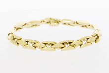 14 Karaat geelgouden brede schakelarmband - 19,8 cm