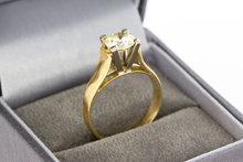 18 Karaat gouden Solitair ring gezet met Diamant 1,10 crt