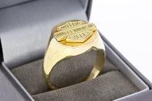 """14 Karaat gouden Statement ring """"Harley Davidson cycles"""""""