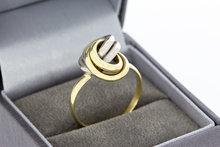 14 Karaat bicolor gouden Infinity Knoop ring